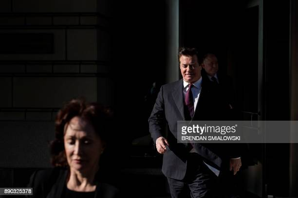 Former Trump campaign chairman Paul Manafort leaves Federal Court on December 11 2017 in Washington DC In October Trump's onetime campaign chairman...