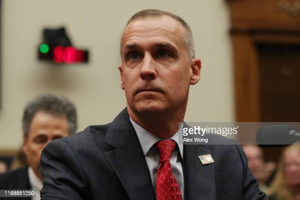 Former Trump campaign manager Corey Lewandowski arrives to testify during a hearing before the House Judiciary Committee in the Rayburn House Office...