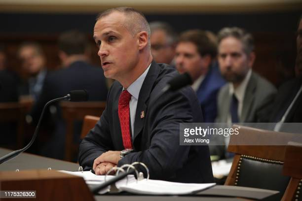 Former Trump campaign manager Corey Lewandowski testifies during a hearing before the House Judiciary Committee in the Rayburn House Office Building...