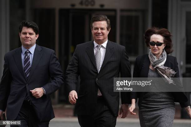 Former Trump campaign manager Paul Manafort arrives with his wife Kathleen Manafort at the Albert V Bryan US Courthouse for an arraignment hearing...