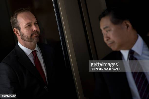 Former Trump campaign official Rick Gates leaves Federal Court on December 11 2017 in Washington DC In October Trump's onetime campaign chairman Paul...