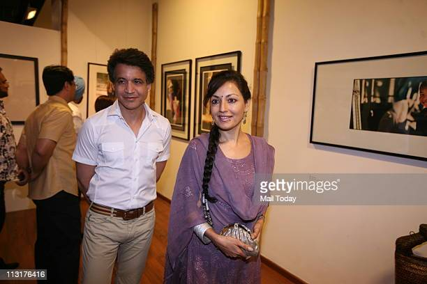 Former TV actress Nisha singh at the exhibition of documentary Filmmaker Anu Malhotra at The Stainless Gallery at Mathura Road New Delhi