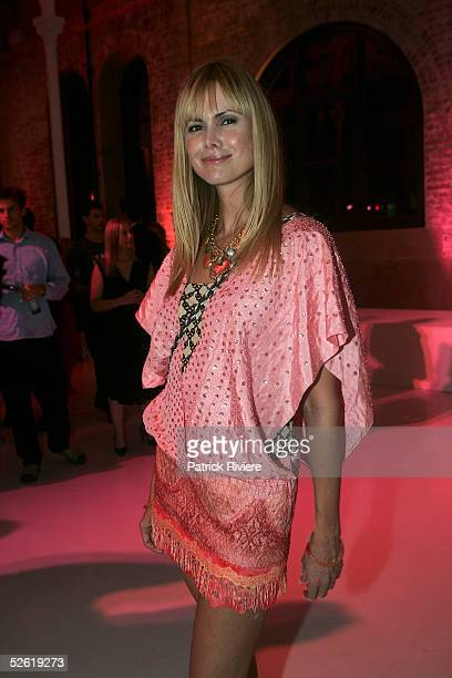 Former TV host Karen Fisher attends the launch of The Essential Look for Mercedes Australian Fashion Week by Scharzkopf Professional at The Studio 24...
