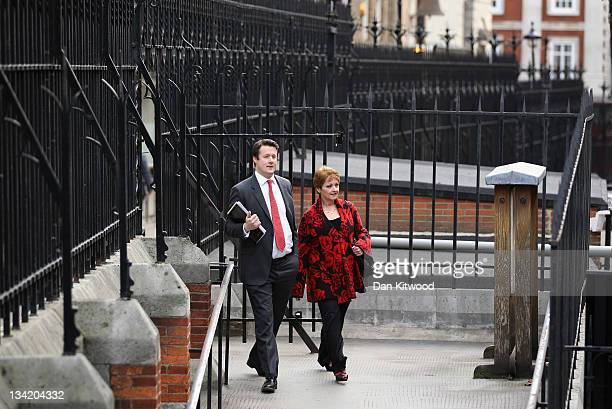 Former TV personality Anne Diamond arrives to give evidence to The Leveson Inquiry at The Royal Courts of Justice on November 28 2011 in London...