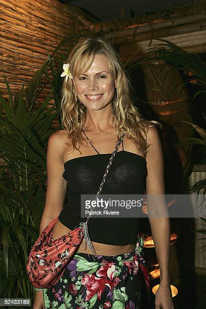 Former TV personality Karen Fisher attends the launch of Air Tahiti Nui at Bungalow 8 King Wharf March 16 2005 in Sydney Australia Air Tahiti will be...