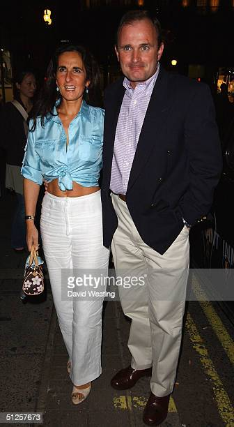 Former TV's Millionaire Contestant Major Charles Ingram and his wife arrive at the party marking National Lottery presenter Gigi Morley's departure...