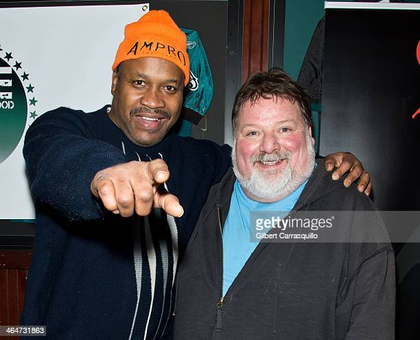 """Former two-time heavyweight Boxing champion of the world """"Terrible"""" Tim Witherspoon and television personality Phil Margera attend the World Xtreme..."""
