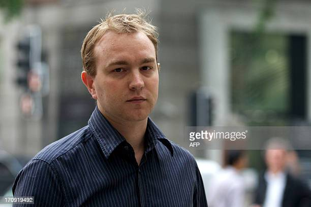 Former UBS trader Tom Hayes arrives at Westminster Magistrates in London on June 20 to appear in court over charges in connection with the Libor...