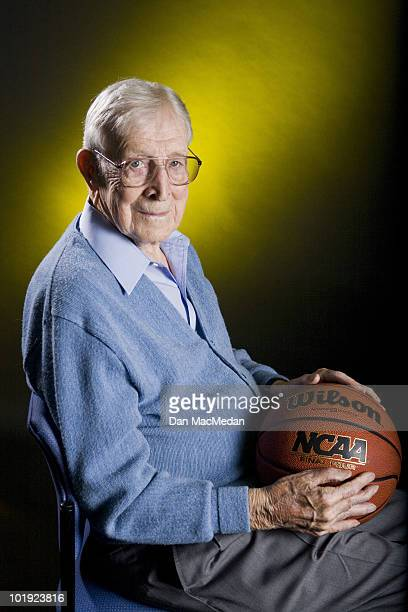 Former UCLA coach John Wooden poses at a portrait session for the USA Today in Tarzana CA on October 12 2005