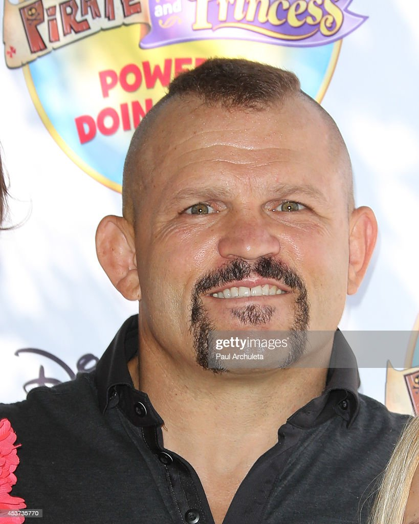 Former UFC Fighter Chuck Lidell attends Disney Junior's 'Pirate And Princess: Power Of Doing Good' tour at Brookside Park on August 16, 2014 in Pasadena, California.