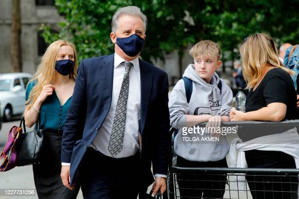 former UK intelligence officer Christopher Steele arrives at the High Court in London on July 22 to attend his defamation trial brought by Russian...