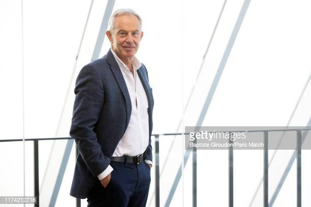 Former UK Prime Minister Tony Blair is photographed for Paris Match on September 19, 2019 in London, United Kingdom.