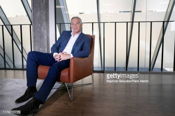 Former UK Prime Minister Tony Blair is photographed for Paris Match on September 19 2019 in London United Kingdom