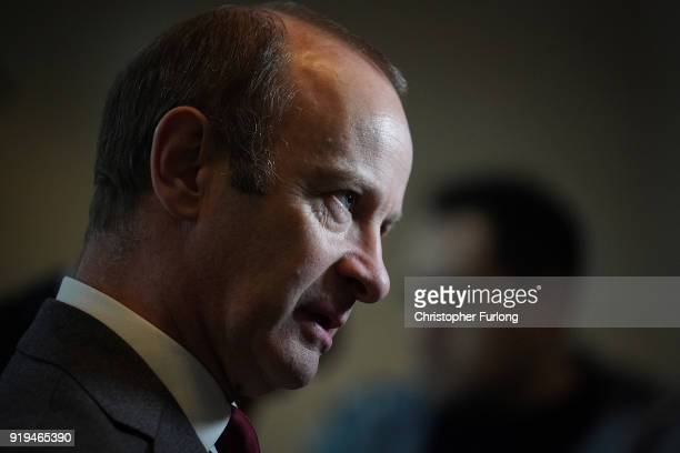 Former UKIP leader Henry Bolton talks to media after the UKIP ExtraOrdinary Leadership Meeting where he lost the leadership of the party on February...