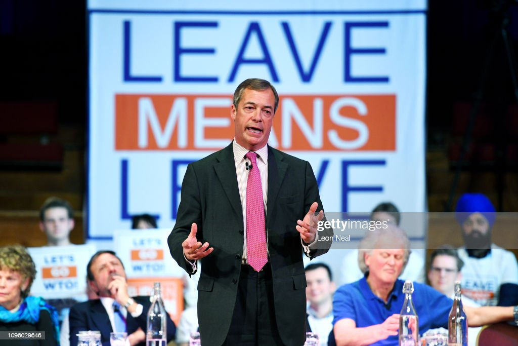 Leave Means Leave Brexit Campaign Hold Rally In Central Hall : News Photo