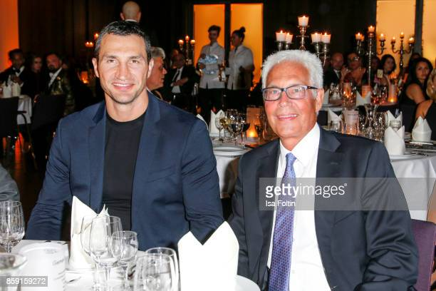 Former Ukrainian boxing champion Wladimir Klitschko and German sports presenter Bernd Boente attend the German Boxing Awards 2017 on October 8 2017...