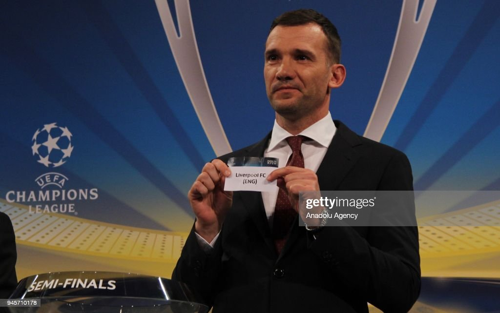 Draw for UEFA Champions League semi-finals : News Photo