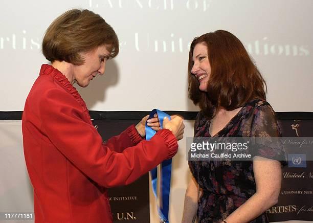 Former U.N. Assistant Secretary-General Gillian Sorensen and Annette O'Toole