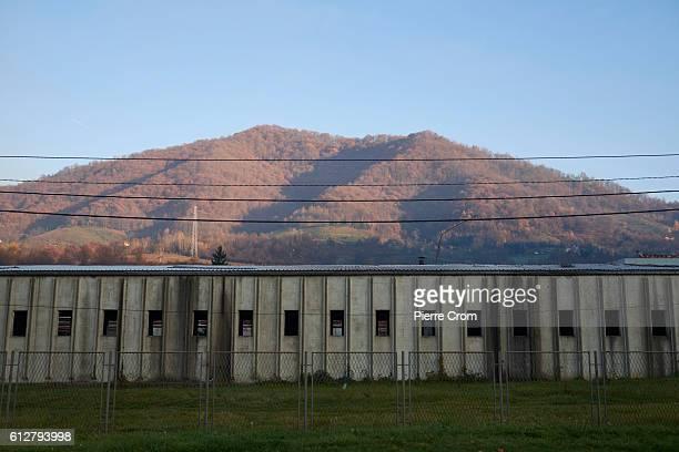 Former UN Dutchbat head quarter in the UN safe zone on the outskirt of Srebrenica in Republika Srpska the Serbian administrative entity in Bosnia and...