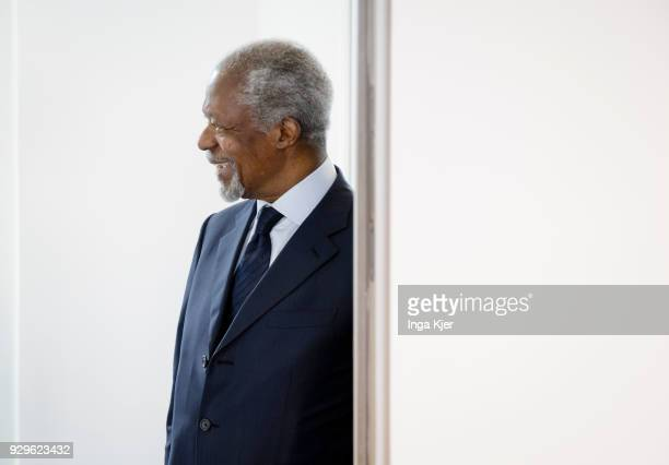 Former UN secretary general Kofi Annan on March 03 2018 in Berlin Germany