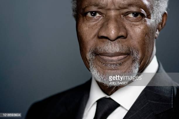 Former United Nations secretarygeneral Kofi Annan poses during a photo session in Paris Former UN chief Nobel laureate Kofi Annan has died announced...