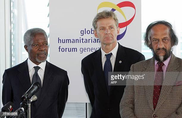 Former United Nations SecretaryGeneral Kofi Annan President of the Global Humanitarian Foundation Board Jan Egeland former Under Secretary General...