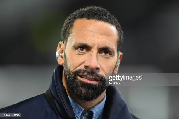 Former United player, Rio Ferdinand during the FA Cup match between Derby County and Manchester United at the Pride Park, Derby on Thursday 5th March...