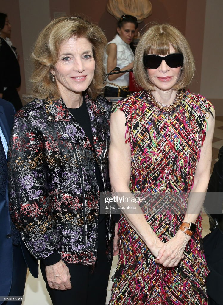 Former United States Ambassador to Japan Caroline Kennedy and Artistic Director for Cond Nast Anna Wintour attend the 'Rei Kawakubo/Comme des Garcons: Art Of The In-Between' Costume Institute Gala Press Preview at Metropolitan Museum of Art on May 1, 2017 in New York City.