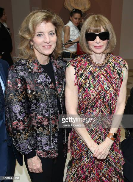 Former United States Ambassador to Japan Caroline Kennedy and Artistic Director for Cond Nast Anna Wintour attend the 'Rei Kawakubo/Comme des Garcons...