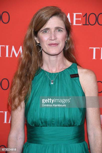 Former United States Ambassador to the United Nations Samantha Power attends the 2017 Time 100 Gala at Jazz at Lincoln Center on April 25 2017 in New...