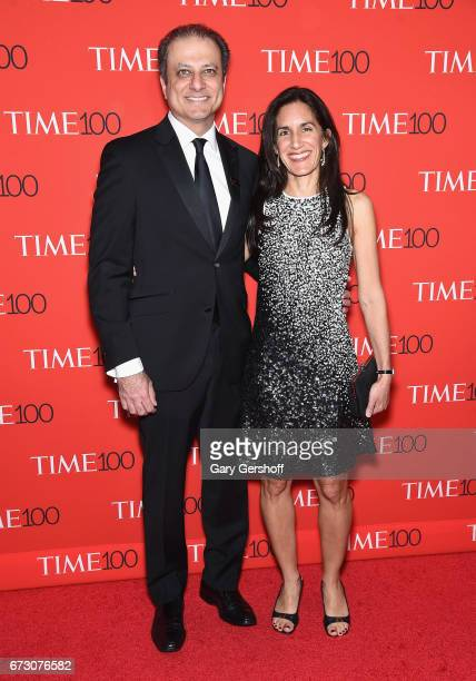 Former United States Attorney for the Southern District of New York Preet Bharara and Dalya Bharara attend the Time 100 Gala at Frederick P Rose Hall...