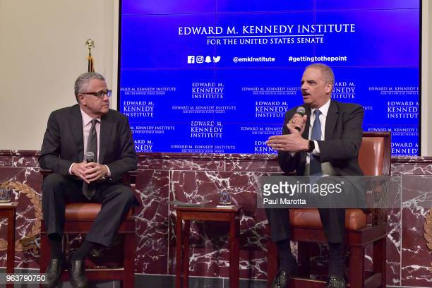 Former United States Attorney General Eric Holder is interviewed by Jeffrey Toobin for a discussion on gerrymandering and its impact on the American...