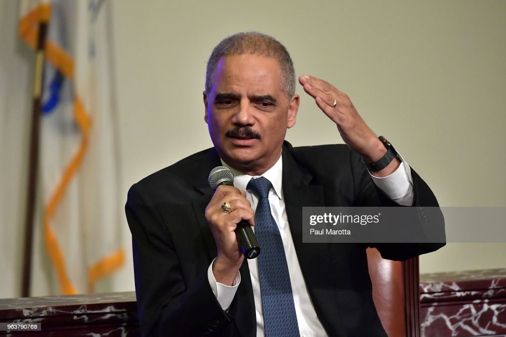 """Getting To The Point"" Conversation With Former Attorney General Eric Holder : News Photo"