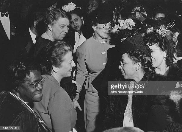Former United States First Lady Eleanor Roosevelt and educator and Civil Rights activist Mary McLeod Bethune 1937