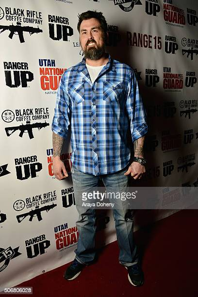 Former United States Navy SEAL Marcus Luttrell attends the Range 15 x Maxim Magazine Party at Indie Lounge on January 25 2016 in Park City Utah