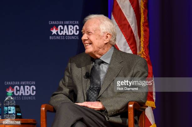 Former United States President Jimmy Carter speaks at 'The Board of Directors of the Canadian American Business Council Presents A Converation With...