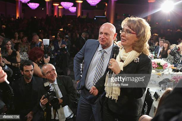 Former United States Representative Gabby Giffords and Captain Mark Kelly attend Friends Of The Israel Defense Forces Western Region Gala at The...