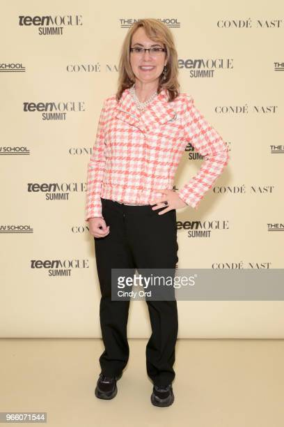 Former United States Representative Gabrielle Giffords attends Teen Vogue Summit 2018: #TurnUp - Day 2 at The New School on June 2, 2018 in New York...