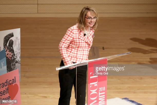 Former United States Representative Gabrielle Giffords speaks onstage during Teen Vogue Summit 2018: #TurnUp - Day 2 at The New School on June 2,...