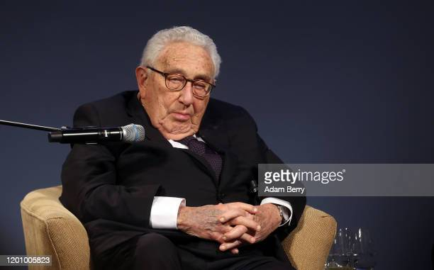 Former United States Secretary of State and National Security Advisor Henry Kissinger attends the ceremony for the Henry A. Kissinger Prize on...