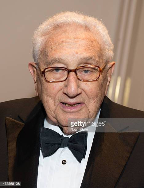 Former United States Secretary of State Henry Kissinger attends the Hospital For Special Surgery 32nd annual tribute dinner at The Waldorf=Astoria on...