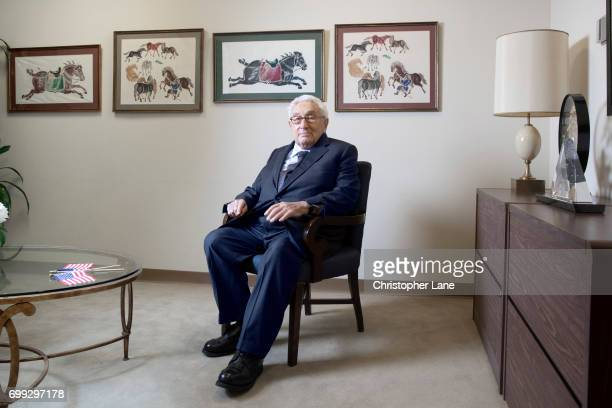 Former United States Secretary of State Henry Kissinger is photographed for The Times on January 19 2017 in New York City PUBLISHED IMAGE