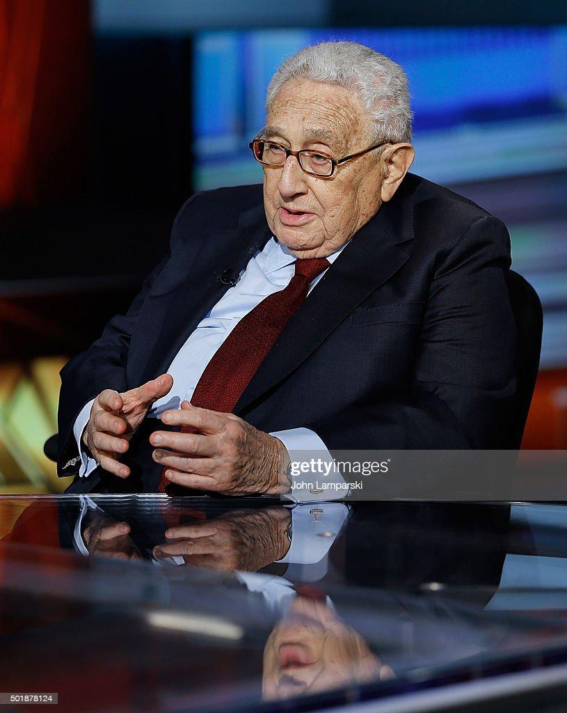 Henry Kissinger Visits Fox Business Network : News Photo