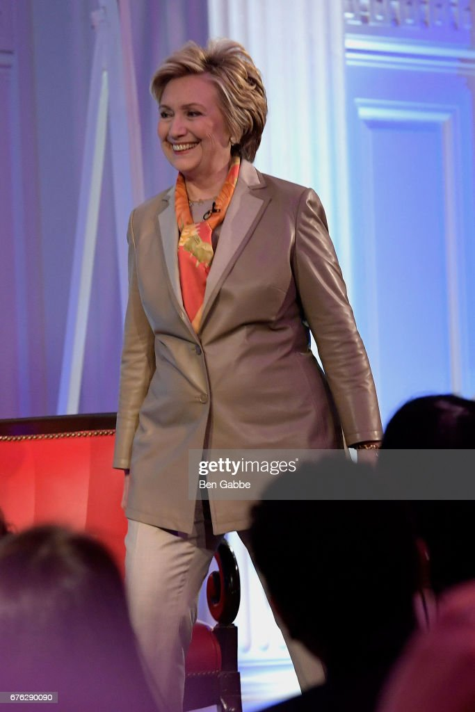 Hillary Clinton Addresses The Women For Women International's Luncheon : News Photo