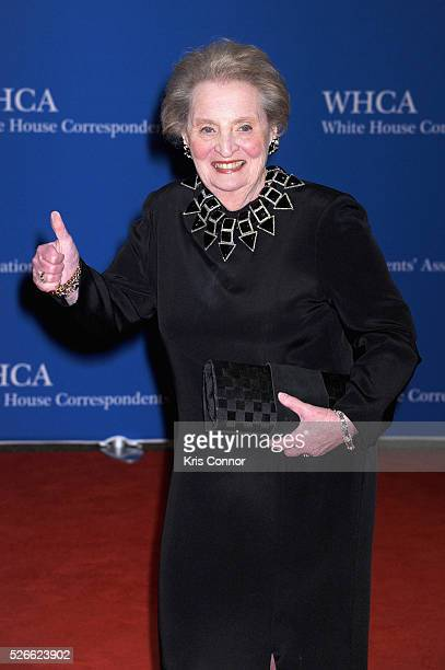 Former United States Secretary of State Madeleine Albright attends the 102nd White House Correspondents' Association Dinner on April 30 2016 in...