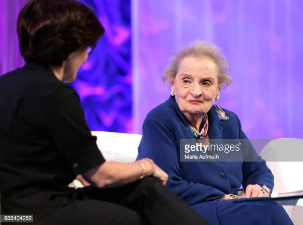 Former United States Secretary of State Madeleine Albright speaks at the Watermark Conference for Women at San Jose Convention Center on February 1...
