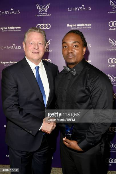 Former United States Vice President Al Gore and John Dillon Award recipient Darius Coffey inside the 13th Annual Chrysalis Butterfly Ball sponsored...