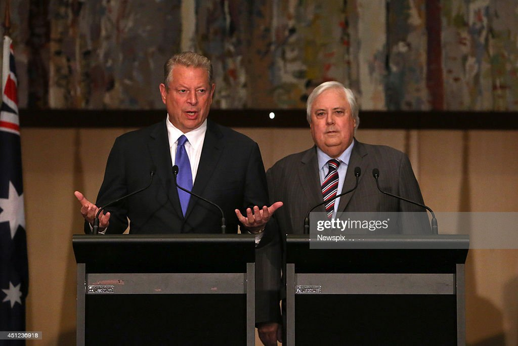 Al Gore And Clive Palmer Hold Press Conference On Climate Change