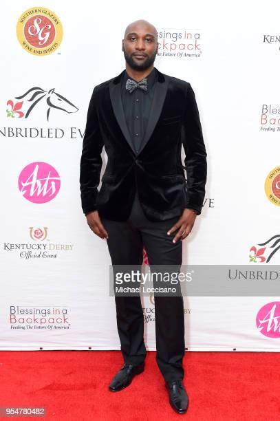 Former University of Louisville Wide Reciever Mario Urrutia attends the Unbridled Eve Gala during the 144th Kentucky Derby at Galt House Hotel Suites...