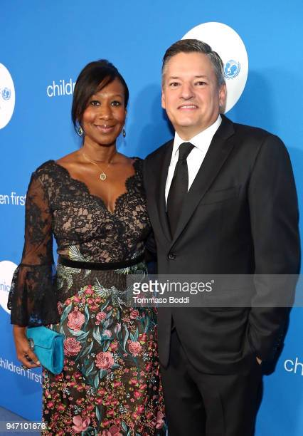Former US Ambassador Nicole Avant and Chief Content Officer for Netflix Ted Sarandos attend the Seventh Biennial UNICEF Ball Los Angeles on April 14...